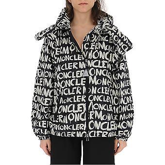 Moncler White/black Nylon Outerwear Jacket