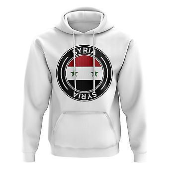 Syrien Fußball Badge Hoodie (weiß)