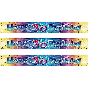 Kleur Burst Party Banner 365 Cm X 11 5Cm 30e verjaardag (992940)