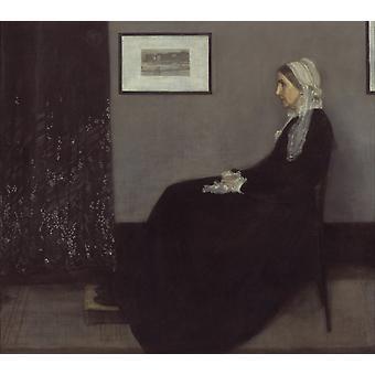 Portrett av maleren-s mor, James Mcneill Whistler, 50x44cm