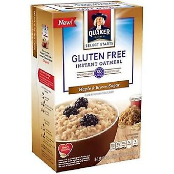 Quaker Gluten Free Maple & Brown Sugar Instant Oatmeal Hot Cereal