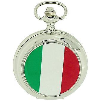 Boxx Italia bandiera italiana bianco Dial Gents Pocket Watch 12