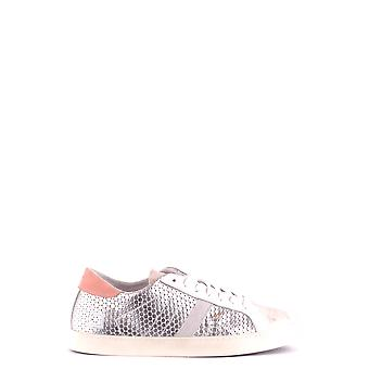 D.a.t.e. Silver Leather Sneakers