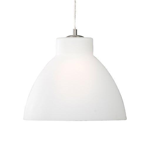 Searchlight 1172 Opal Contemporary Pendant With White Opal Glass Shade