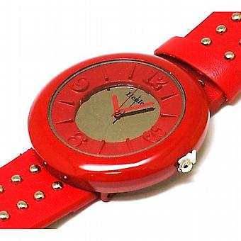Henley Glamour Ladies Red Mirror  Studded Watch