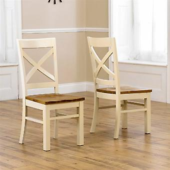 Mark Harris Cavanaugh Solid Oak Cream Dining Chair with Timber Seat