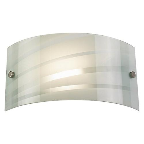 Endon 96220-WBWH Modern Switched Wall Washer Light - Curved White Glass With Stripes