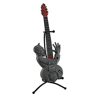 Mal entertainer pewter cinza Fiery Demon Guitar Coin Bank