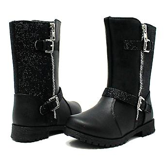 Sara Z Toddler Girls Boot With Glitter And Buckles