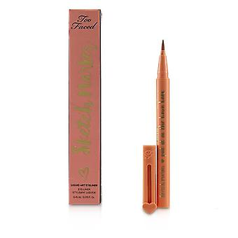 Too Faced Sketch Marker Liquid Art Eyeliner - # Papaya Peach 0.45ml/0.015oz