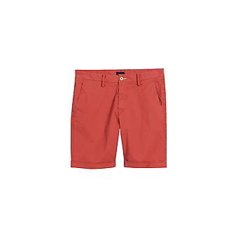 Gant 02 Sunbleached Regular Fit Shorts Mineral Red
