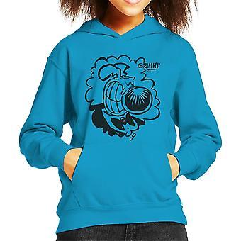 Grimmy Tuxedo Grin Kid's Hooded Sweatshirt