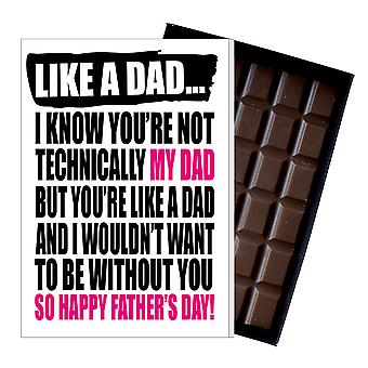 Grappige stap vaders dag gift domme chocolade aanwezig RudeDad Card DADIYF113