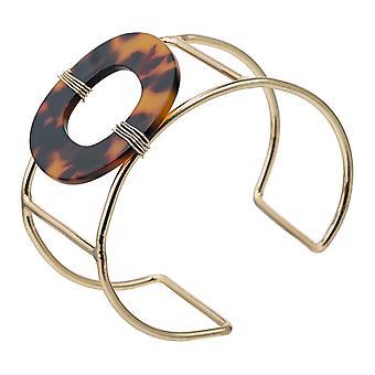 Gemshine Bangle verguld Shield plaat/hars armband. Sieraden gemaakt in Spanje
