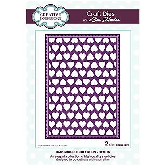 Creative Expressions Die Set Hearts by Lisa Horton Set of 2 | Background Collection