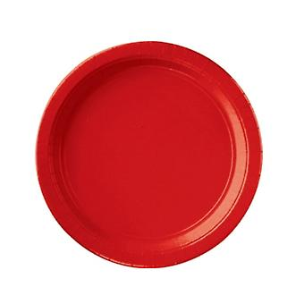 SALE -  8 Apple Red Paper Plates - Small | Party Tableware Supplies