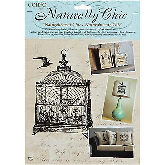 Wrights Naturally Chic Iron On Transfers Bird Cage 7