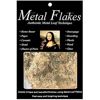 Metal Leaf Flakes 3 Grams Gold 10009