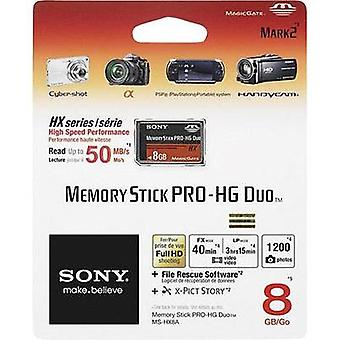 MemoryStick® PRO Duo card 8 GB Sony Pro-HG Duo HX