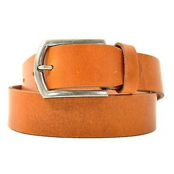 Petrol Leather Jeans Belt Cognac( 40871)