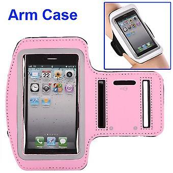 Brazalete de deportes de cuero bolso PU para el iPhone 5/5S (rosa)