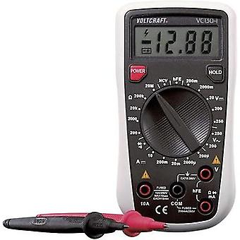 Handheld multimeter digital VOLTCRAFT VC130-1 (ISO) Calibrated to ISO standards CAT III 250 V Display (counts): 2000