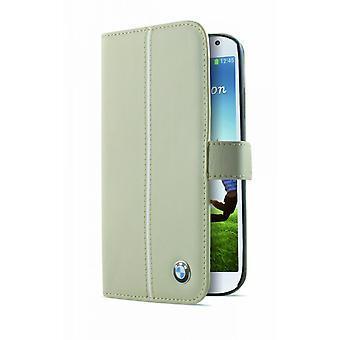 BMW flip book leather case cover for Samsung Galaxy S4 beige i9500