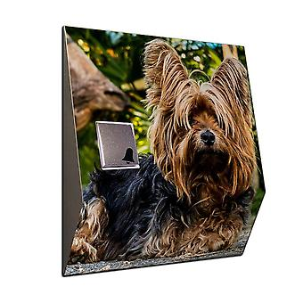 Wireless Yorkshire Terrier stainless steel ring with radio front door bell