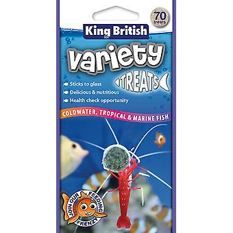 Rey británico variedad trata 70pce (paquete de 6)