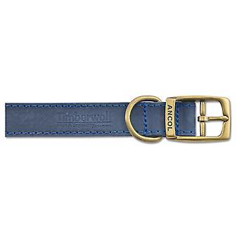 TimberWolf cuero Collar azul 25mm X50-59 cm