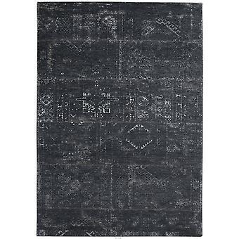 Distressed Atlantic Deep Tribal Flatweave Rug 60 x 90 - Louis De Poortere