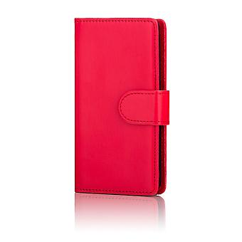 32nd Book wallet case + stylus for Motorola Moto Z Play - Red