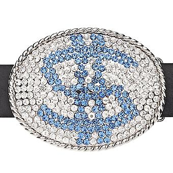 Iced out bling hiphop blauwe DOLLAR riem