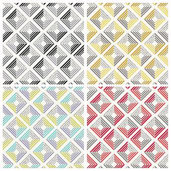 3D Wallpaper geometrische Diamond Glitter Echo Retro Quadrate moderne Fett Coloroll