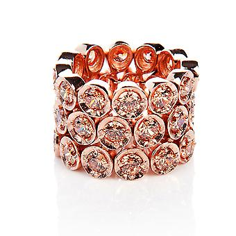 Triple Eternity Ring Champagne (Rose Gold)
