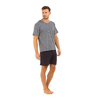 Shorts in cotone Navy Haigman Mens & Set pigiama a strisce t-shirt