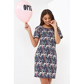 Outlet Girls On Film Floral Print Tunic Dress