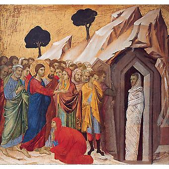 Duccio di Buoninsegna - The Raising of Lazarus Poster Print Giclee