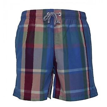 Gant Plaid Print Swim Shorts