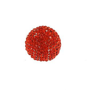 W.A.T Orange Sparkling Crystal Ball Ring