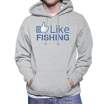 Like Fishing Facebook Men's Hooded Sweatshirt