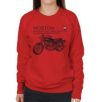 Haynes Owners Workshop Manual Norton Commando 745CC 828CC Women's Sweatshirt