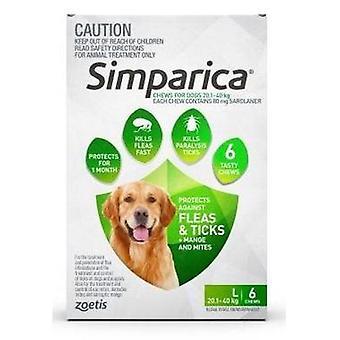 Simparica Large Dog 20.1-40kg Green 6pk