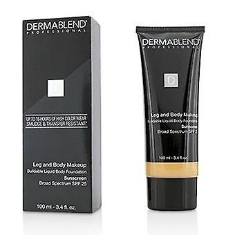 Dermablend Leg and Body Make Up Buildable Liquid Body Foundation Sunscreen Broad Spectrum SPF 25 - #Light Sand 25W - 100ml/3.4oz