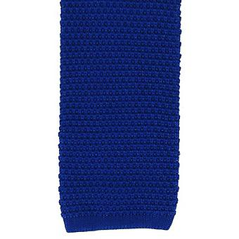 Michelsons of London Silk Knitted Tie - Blue