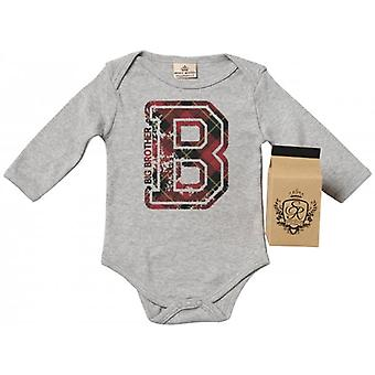 Spoilt Rotten B For Big Brother Baby Grow 100% Organic In Milk Carton