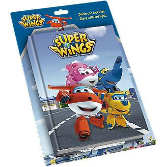 Kids Euroswan Led Diary Super Wings (Toys , School Zone , Notebooks And Folders)