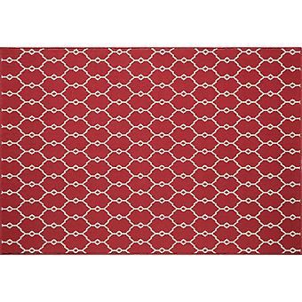 In - and outdoor carpet balcony / living room of vitaminic trellis red 133 x 190 cm