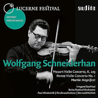 Henze / Martin / Mozart / Schneiderhan / Seefried - Schneiderhan: importación de Estados Unidos Lucerna Festival X [CD]