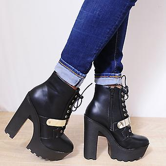 Koi Couture Ladies Bf19 Black Ankle Boots